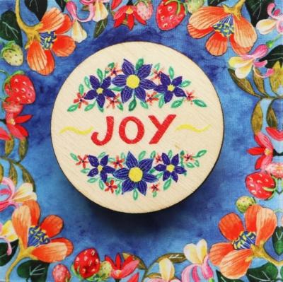 Brosa cu mesaj frumos joy