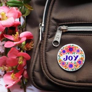 insigna mesaj joy