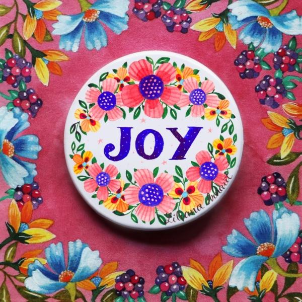 Insigna flori si mesaj joy