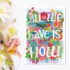 Magnet motivational cu flori