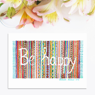 "Magnet colorat ""Be happy"""
