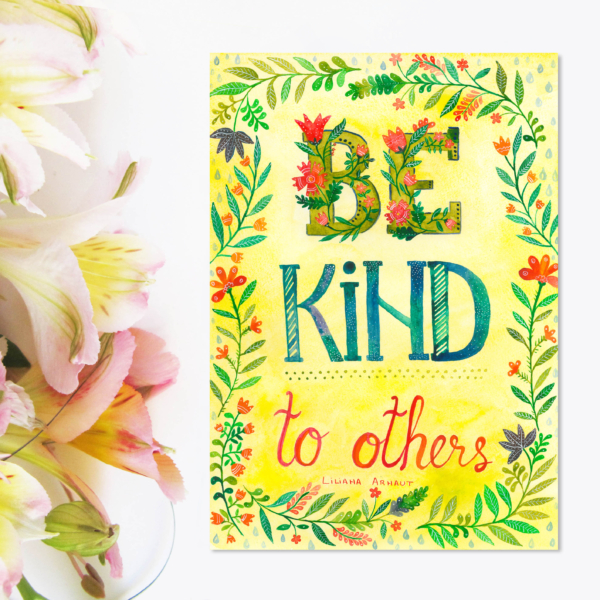 Magnet mesaj pozitiv engleza be kind to others