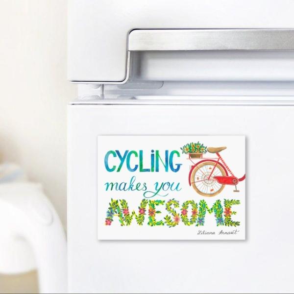 magnet cu bicicleta