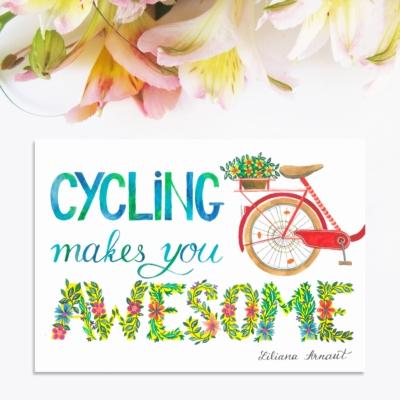 Magnet mesaj pozitiv bicicleta