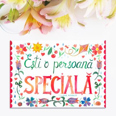 Magnet frumos cu flori - esti o persoana speciala