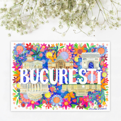 Sticker suvenir bucuresti