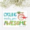 Sticker citat biciclisti