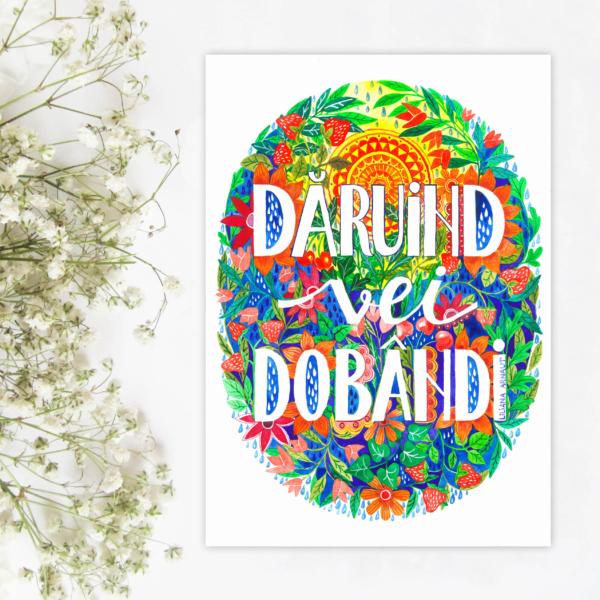 """Sticker """"Daruind vei dobandi"""""""