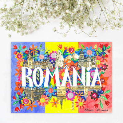 sticker suvenir romania