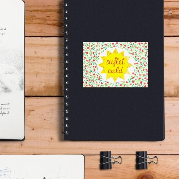 sticker personalizat agenda