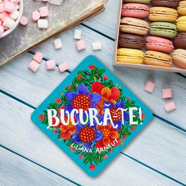 coaster cu mesaj