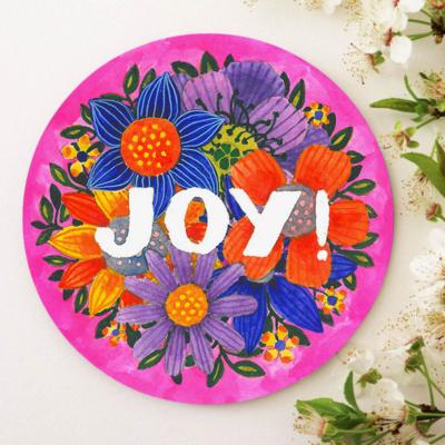 suport pahar mesaj de bucurie