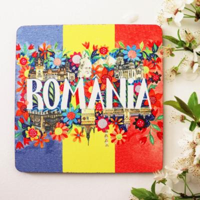 Suporturi pahar flori mesaj Romania