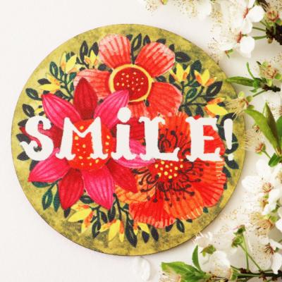 suport de pahar cu mesaj pozitiv