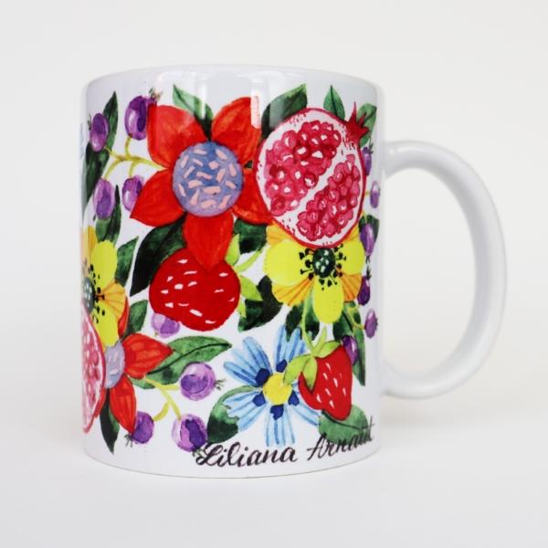 cana cu flori colorate