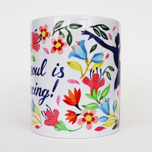 cana cu flori si mesaj
