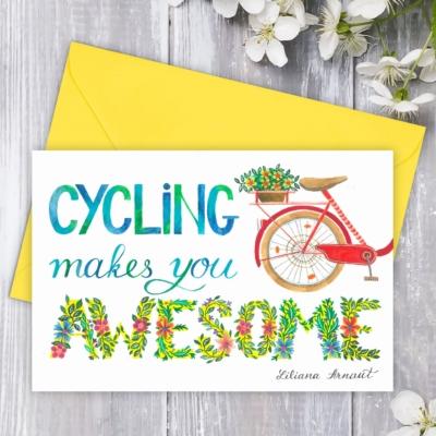 Felicitare pentru biciclisti