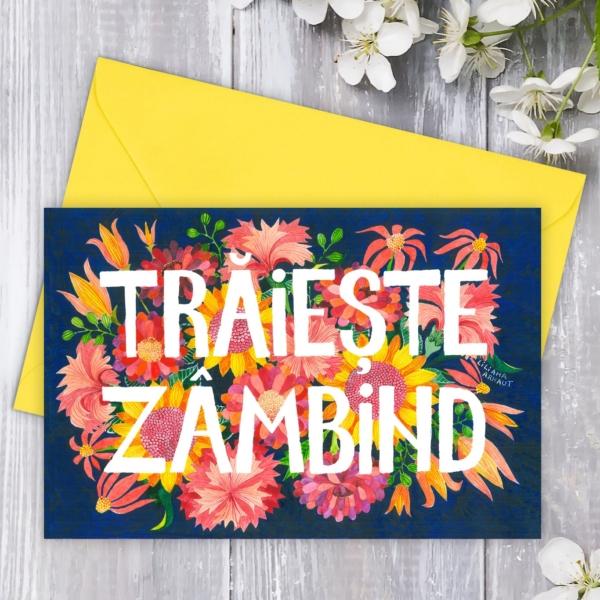Felicitare Traieste zambind