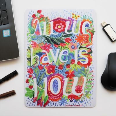 Mouse Pad colorat flori