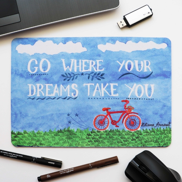 Mouse Pad mesaj incurajare cu bicicleta