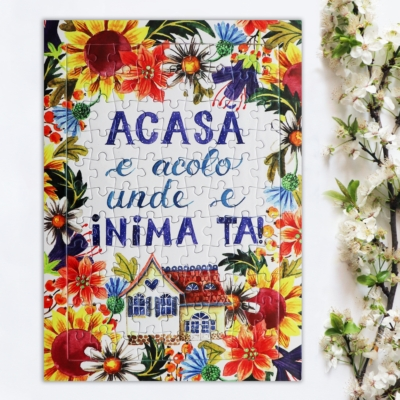 puzzle colorat cu flori