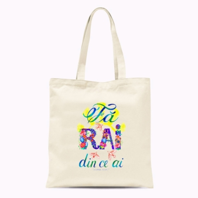 Tote bag mesaj inspirational