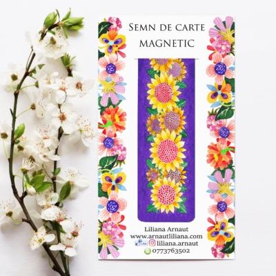 Semn de carte magnetic cu citat celebru Vincent Van Gogh