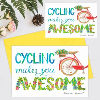 Felicitare aniversare Cycling makes you awesome