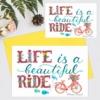 Felicitare cu bicicleta