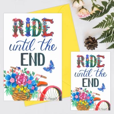 Felicitare mesaj bicicleta
