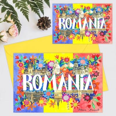 Felicitare suvenir Romania