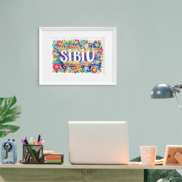 Tablou scris Sibiu