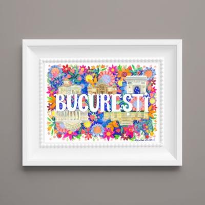 Tablou mesaj Bucuresti