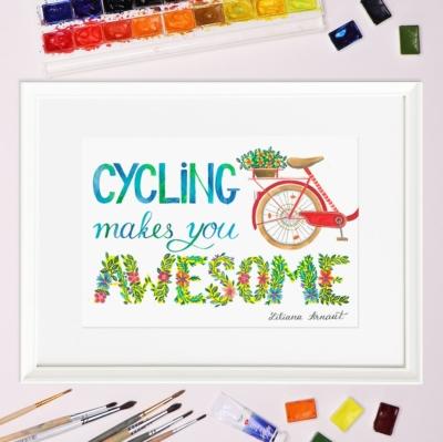 Tablou citat biciclisti