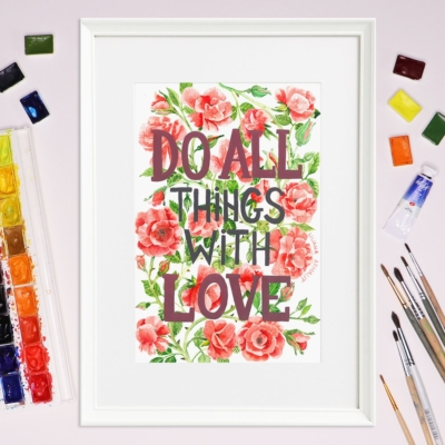 Tablou mesaj dragoste - Liliana Arnaut
