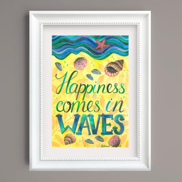 Tablou mesaj fericire