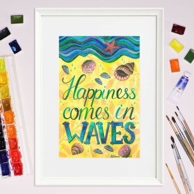 Tablou citat fericire - Liliana Arnaut