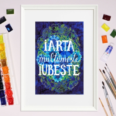 Tablou mesaj pozitiv - Liliana Arnaut