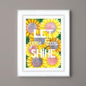 Tablou de vara cu floarea soarelui