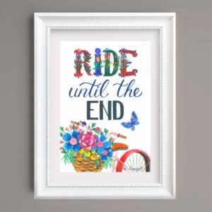 Tablou mesaj bicicleta