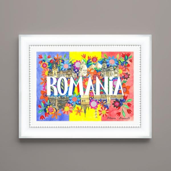 Tablou frumos cu Romania