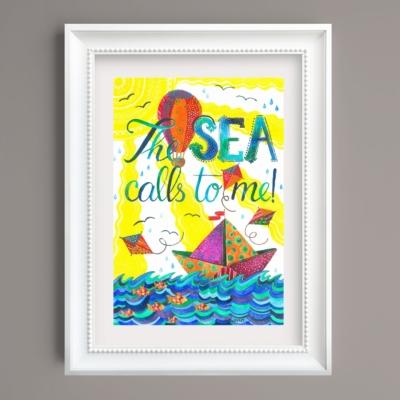 Tablou inspirational de vara The sea call to me