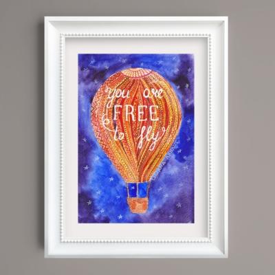 Tablou inspirational balon