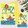 Felicitare mesaj despre mare The sea calls to me
