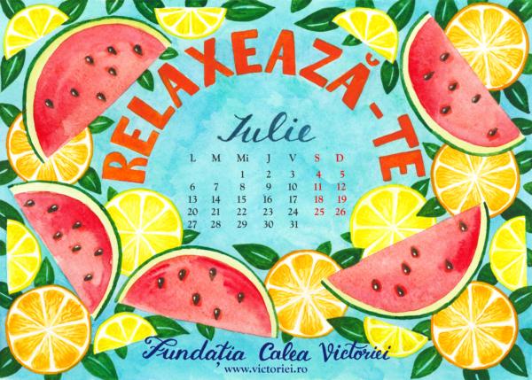 Calendar colorat