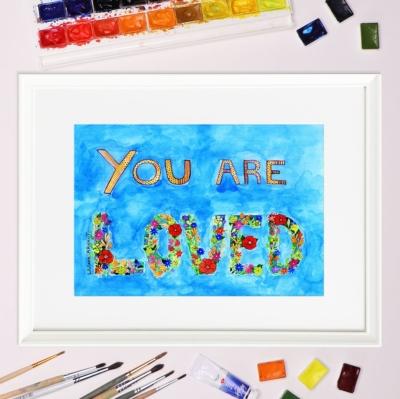 Tablou mesaj iubire