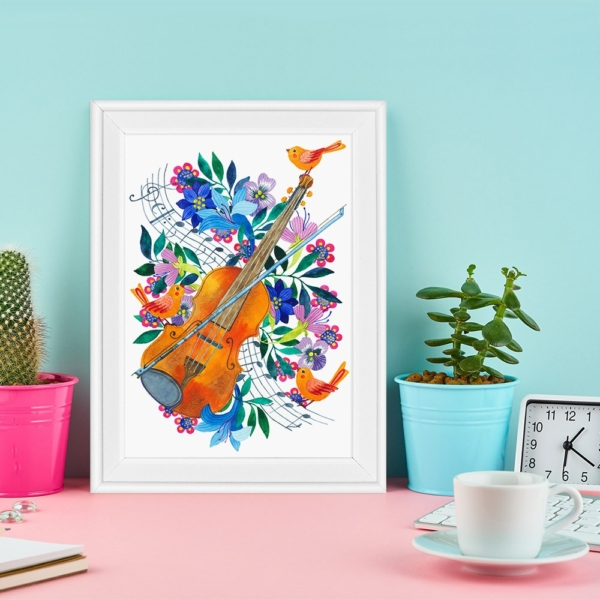 Tablou instrumente muzicale