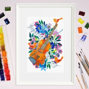 Tablou cu vioara