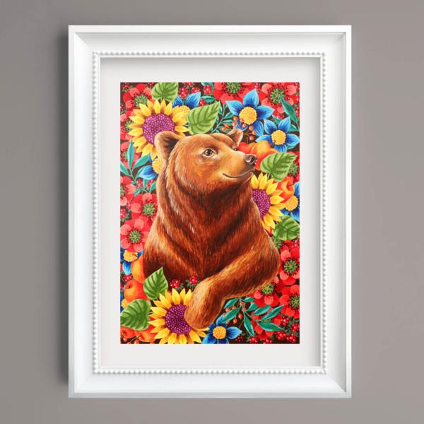 "Tablou ""Ursul jucaus"" - Liliana Arnaut"