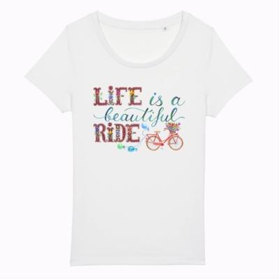 Tricou mesaj biciclisti